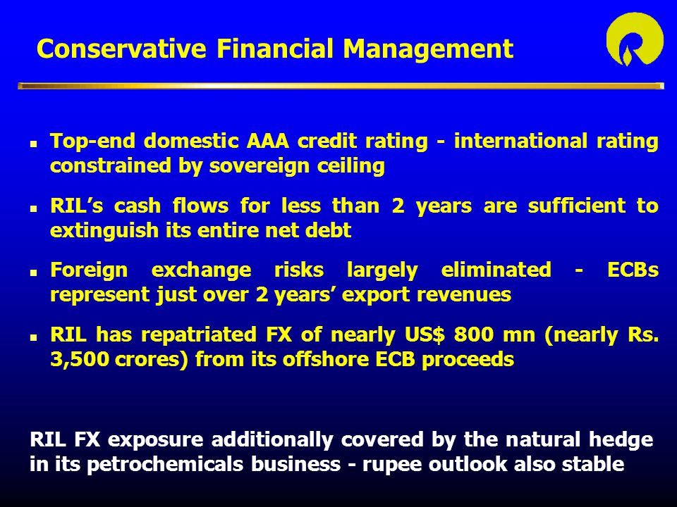 Conservative Financial Management