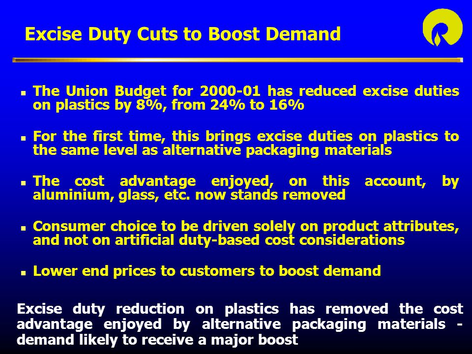 Excise Duty Cuts to Boost Demand