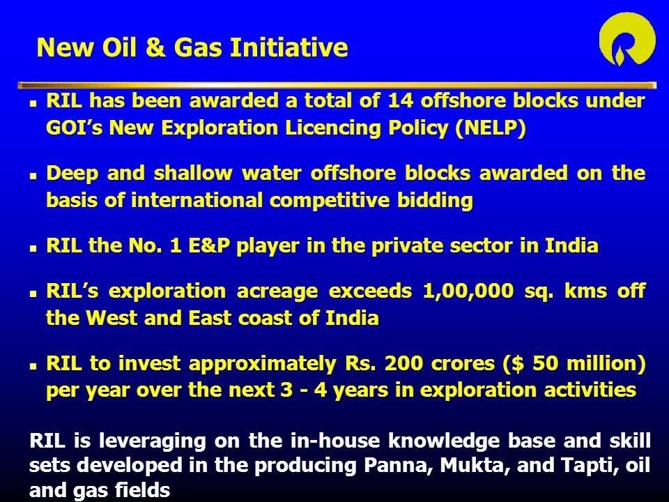 New Oil & Gas Initiative