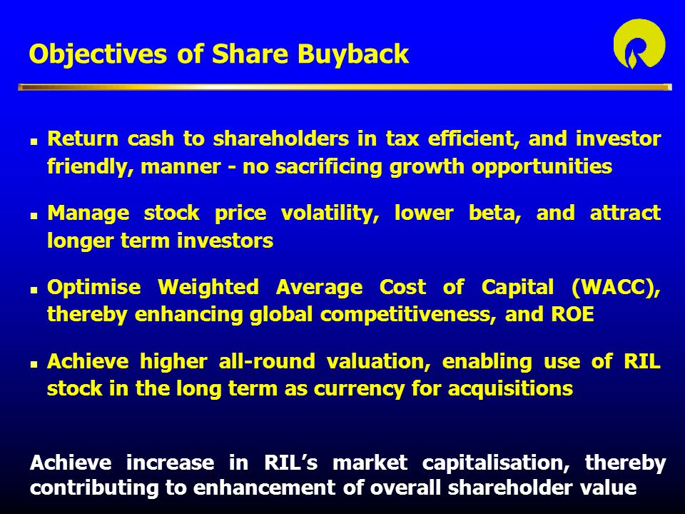 Objectives of Share Buyback
