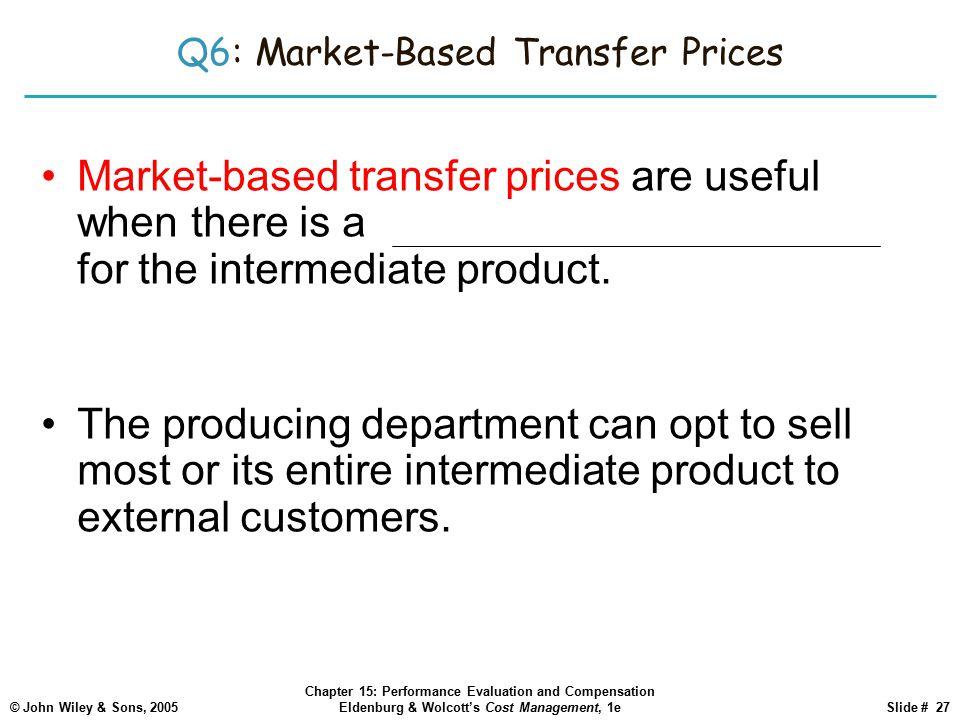Q6: Market-Based Transfer Prices