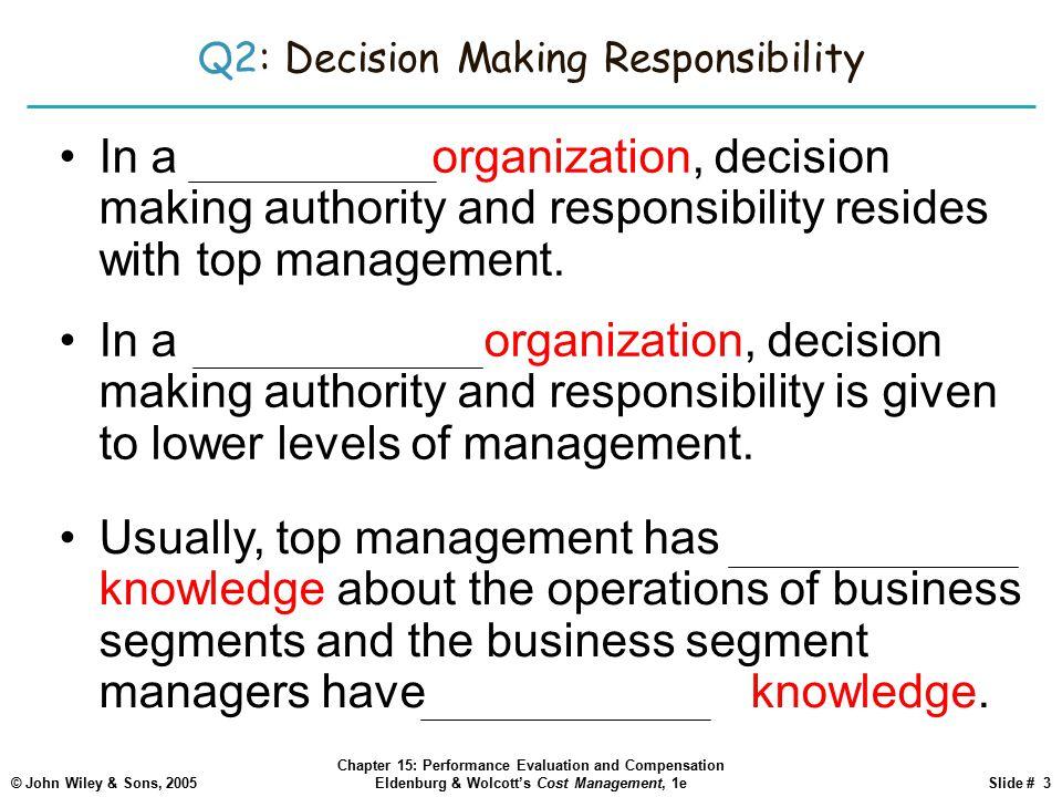 Q2: Decision Making Responsibility