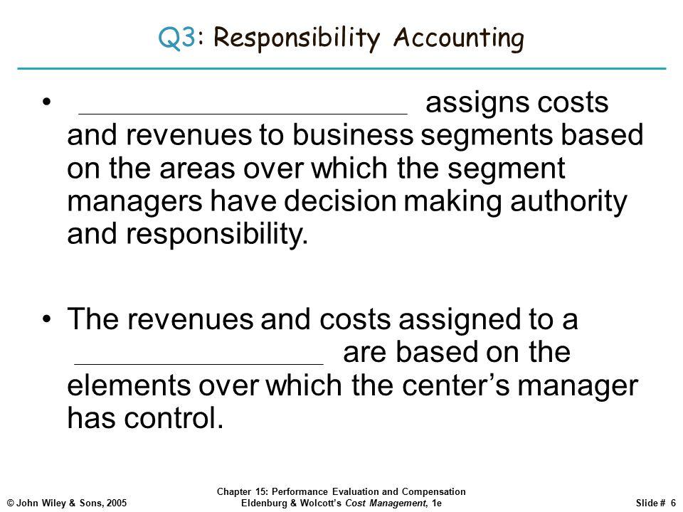 Q3: Responsibility Accounting