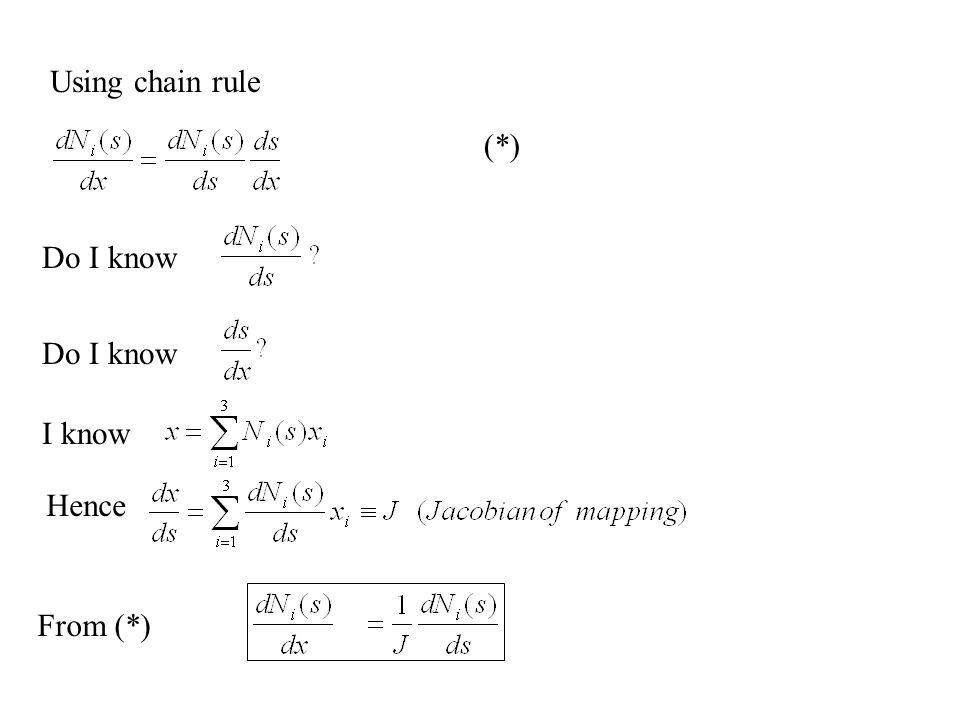 Using chain rule (*) Do I know Do I know I know Hence From (*)