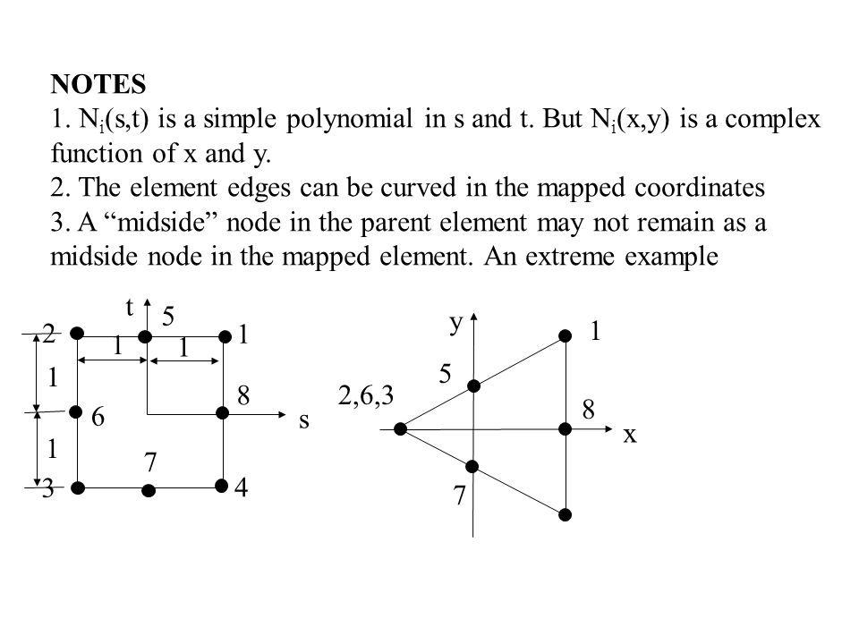 NOTES 1. Ni(s,t) is a simple polynomial in s and t