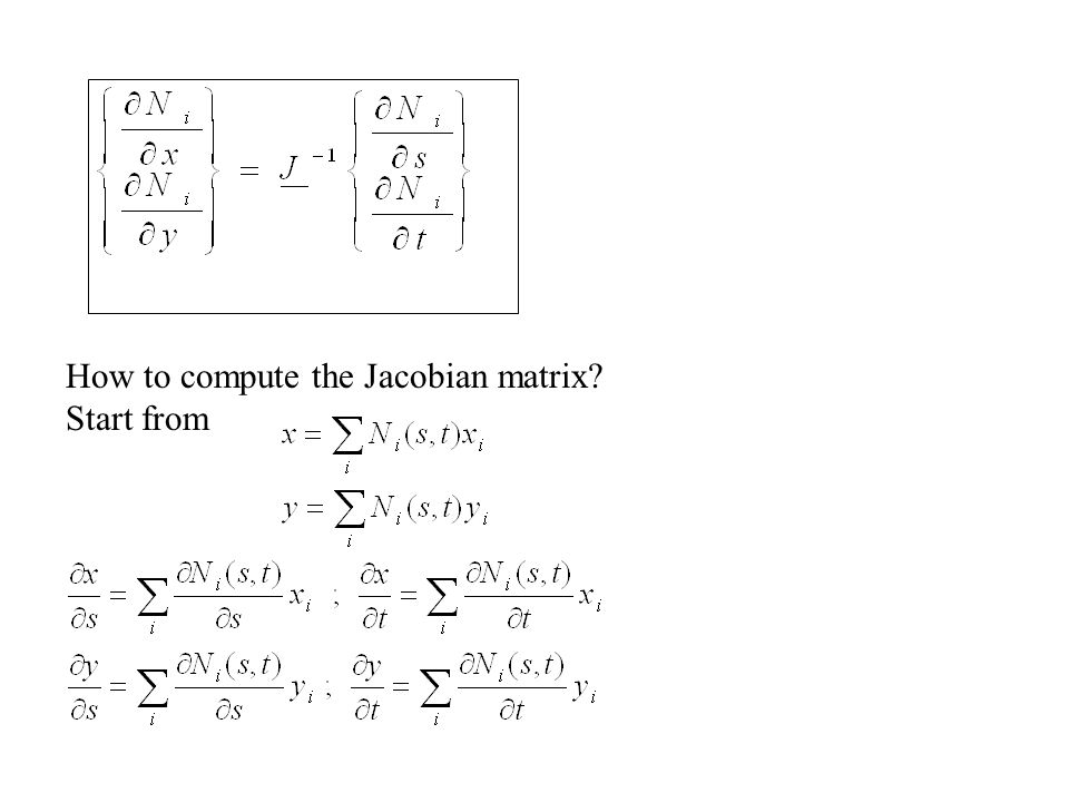How to compute the Jacobian matrix