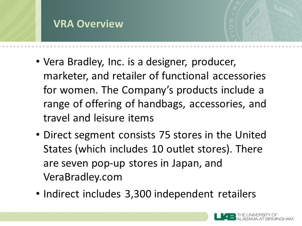 VRA Overview
