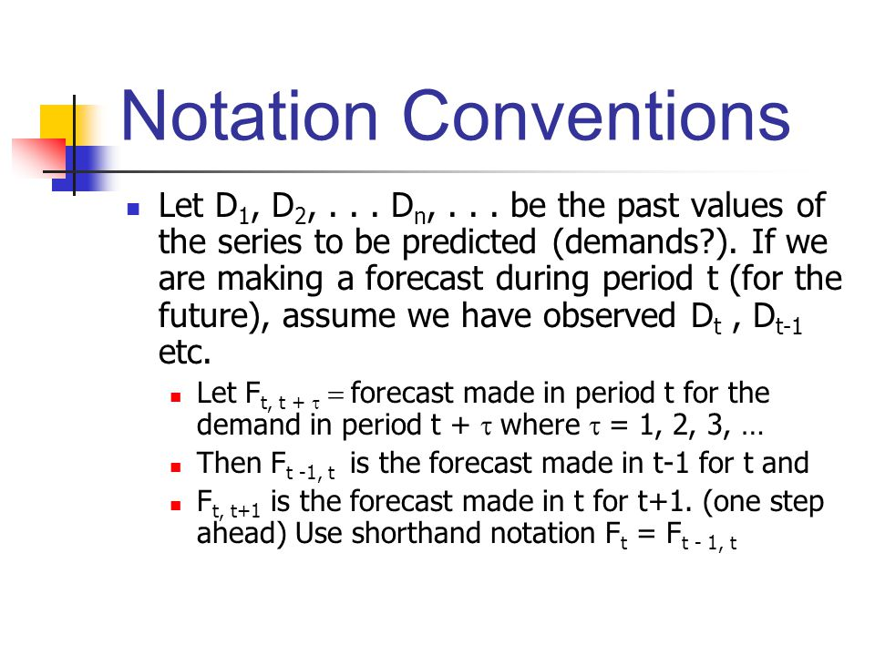 Notation Conventions