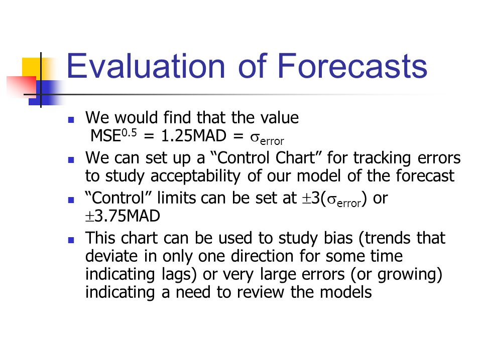 Evaluation of Forecasts