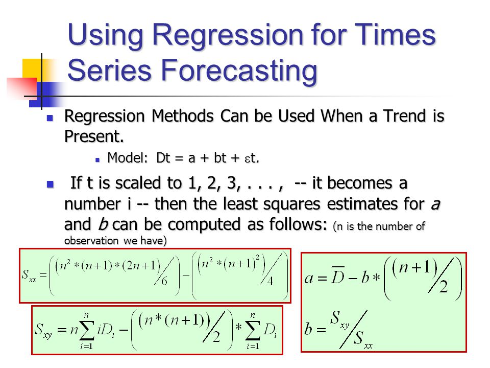 Using Regression for Times Series Forecasting