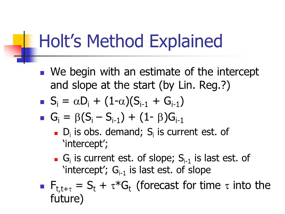 Holt's Method Explained