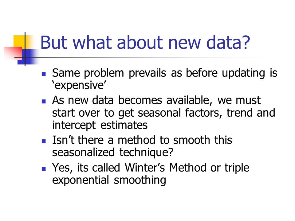But what about new data Same problem prevails as before updating is 'expensive'