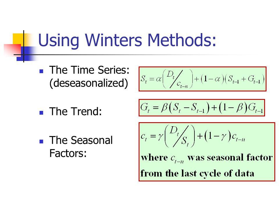 Using Winters Methods: