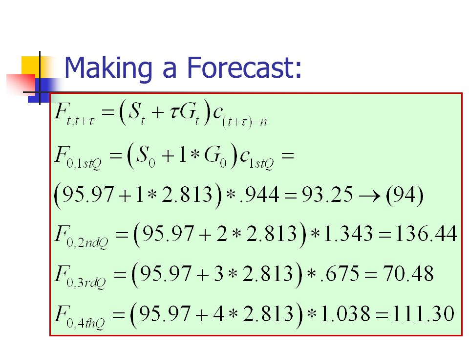 Making a Forecast:
