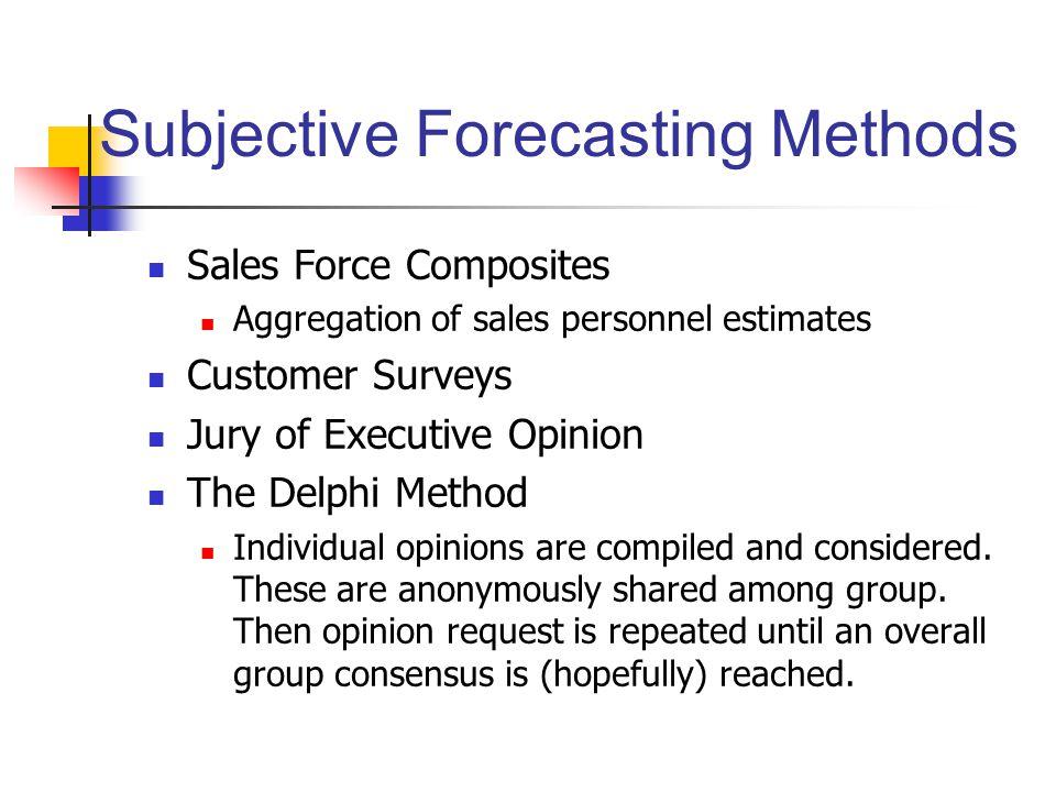 Subjective Forecasting Methods