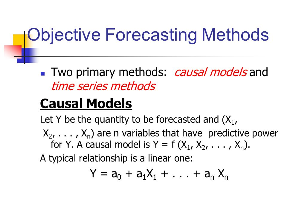 Objective Forecasting Methods