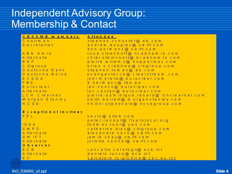 Independent Advisory Group: Membership & Contact