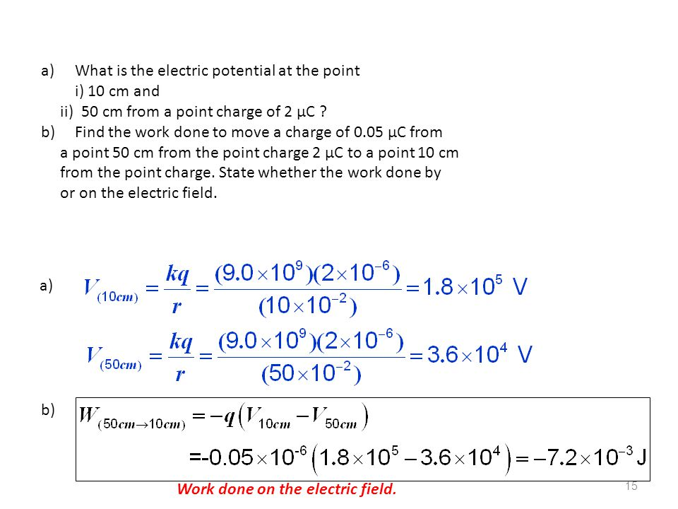 What is the electric potential at the point