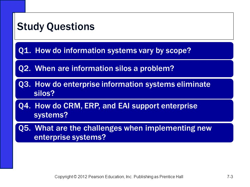 Study Questions Q1. How do information systems vary by scope