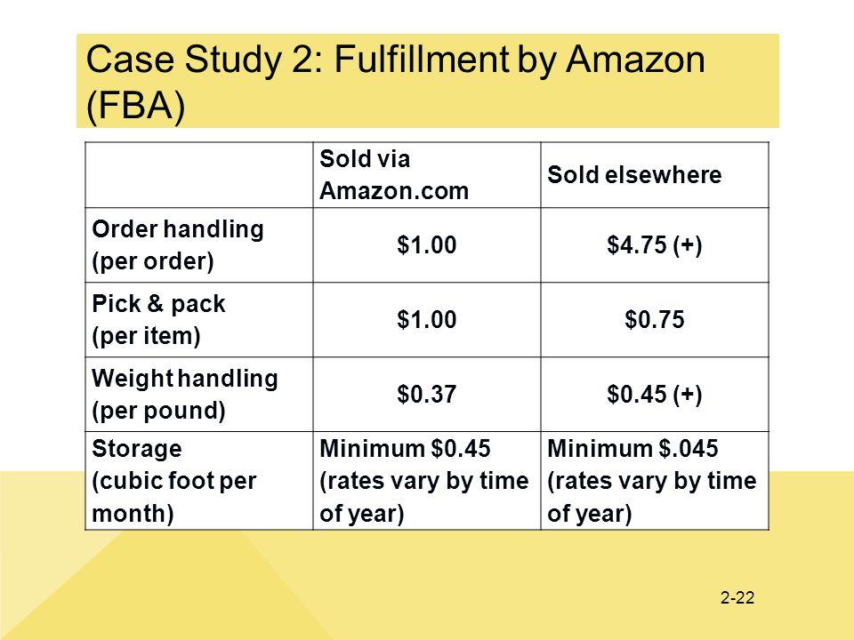 Case Study 2: Fulfillment by Amazon (FBA)