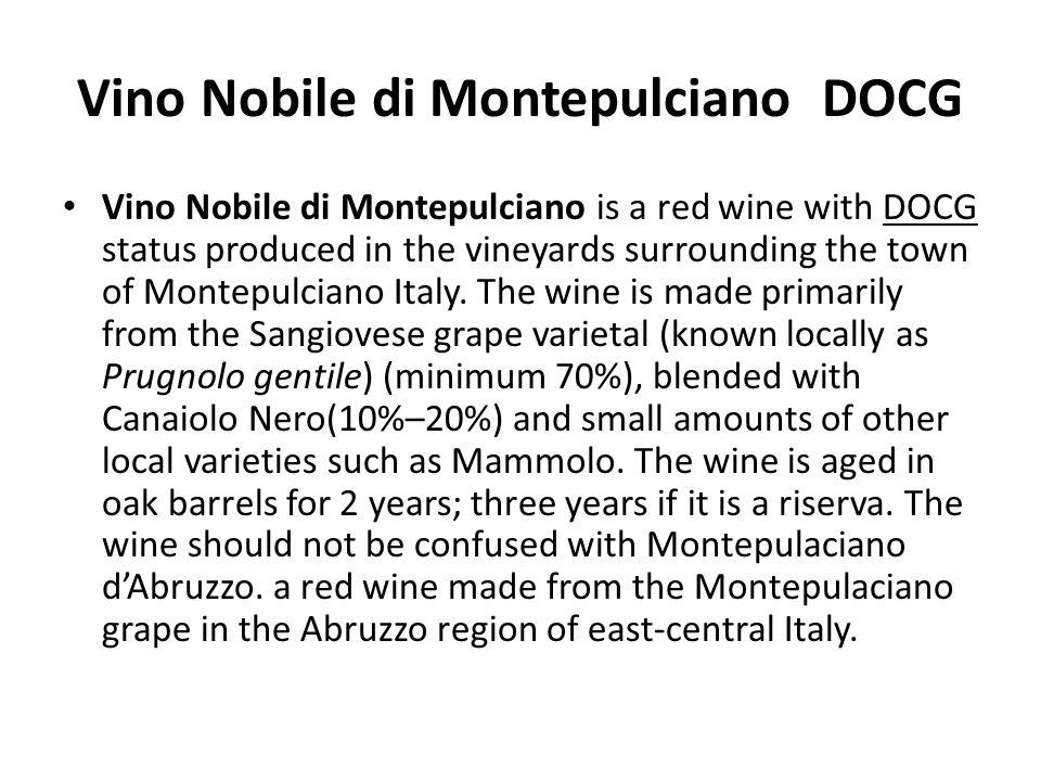 Vino Nobile di Montepulciano DOCG
