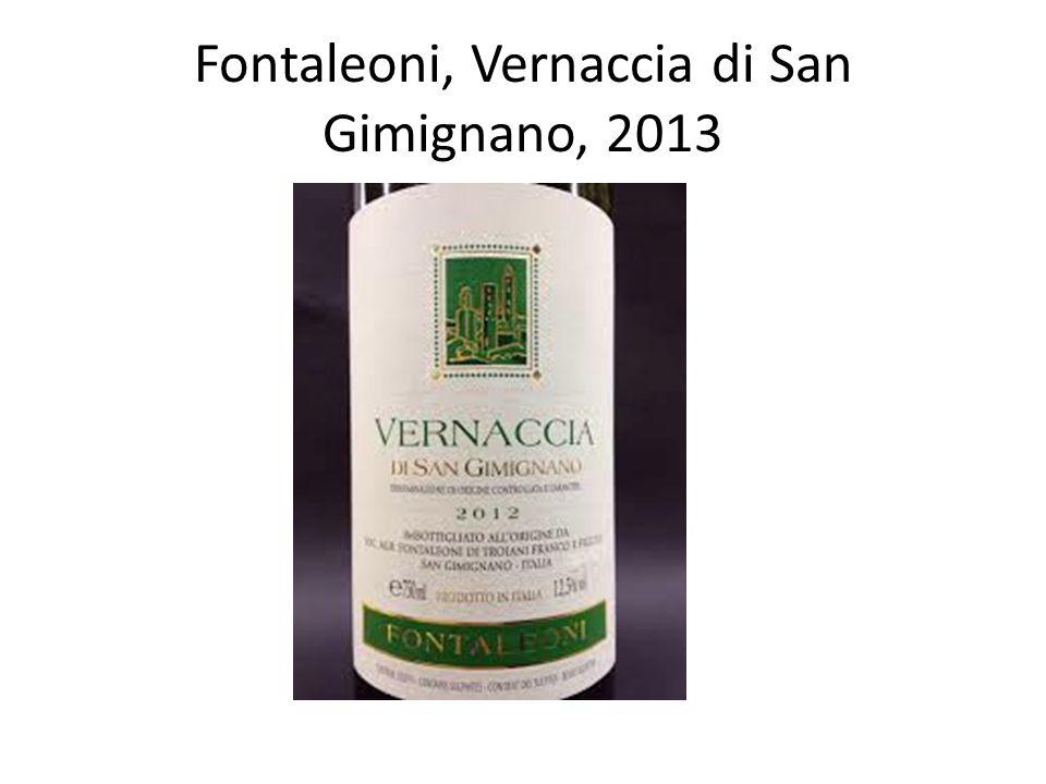 Fontaleoni, Vernaccia di San Gimignano, 2013