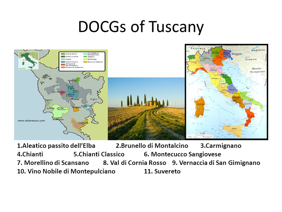 DOCGs of Tuscany