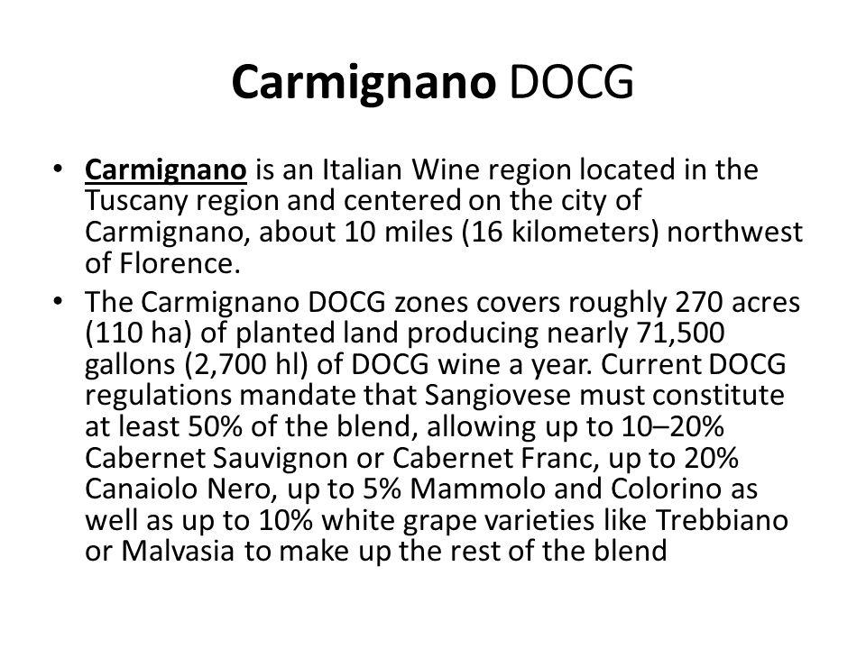 Carmignano DOCG