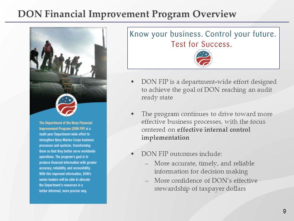 DON Financial Improvement Program Overview