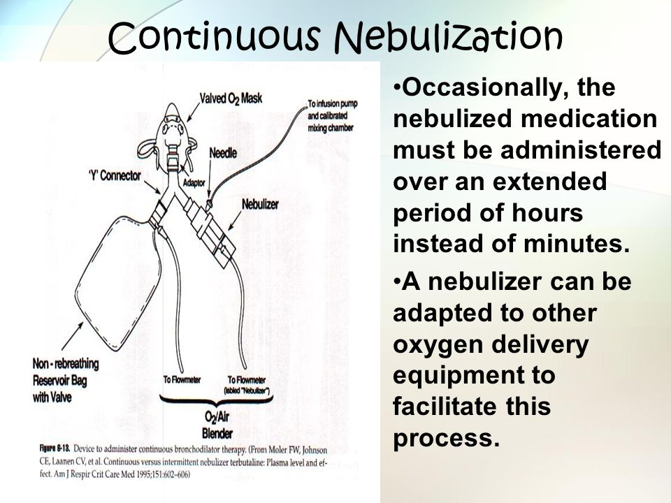 Continuous Nebulization