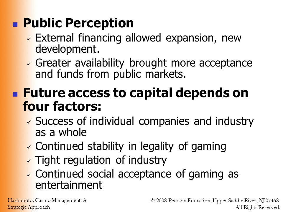 Future access to capital depends on four factors: