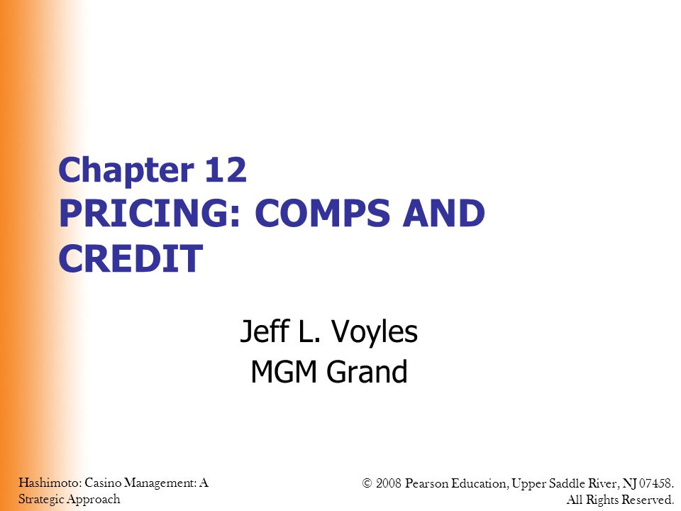 Chapter 12 PRICING: COMPS AND CREDIT