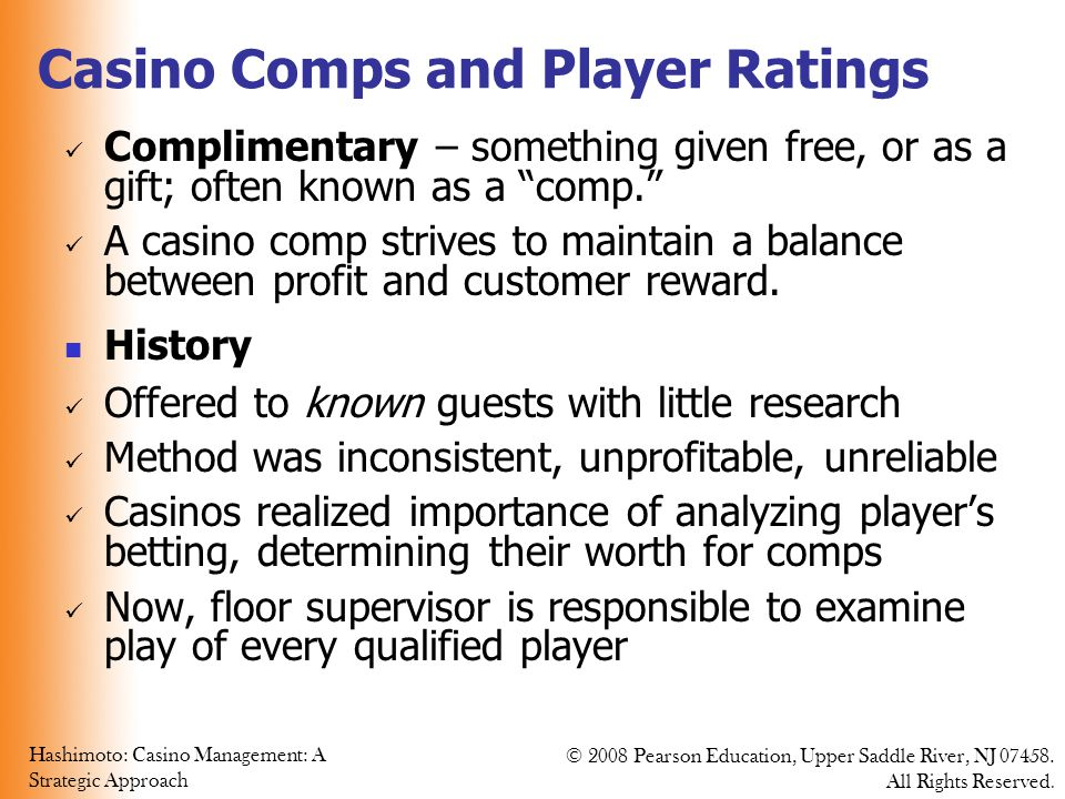 Casino Comps and Player Ratings