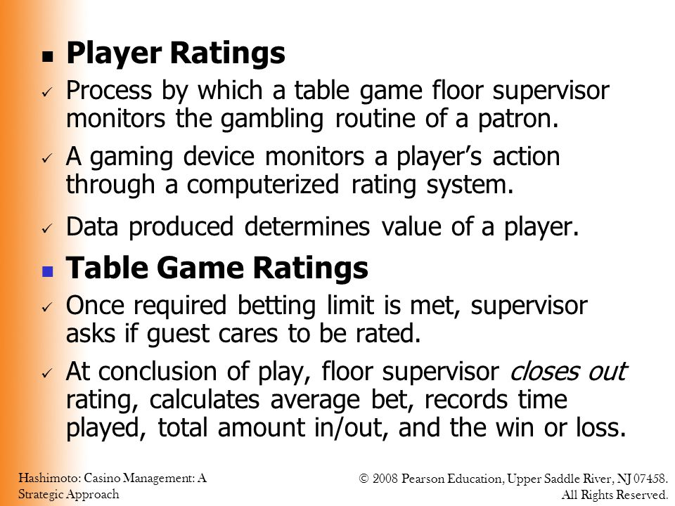 Player Ratings Table Game Ratings