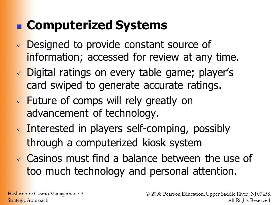 Computerized Systems Designed to provide constant source of information; accessed for review at any time.