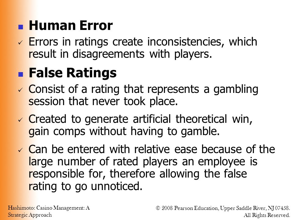 Human Error False Ratings
