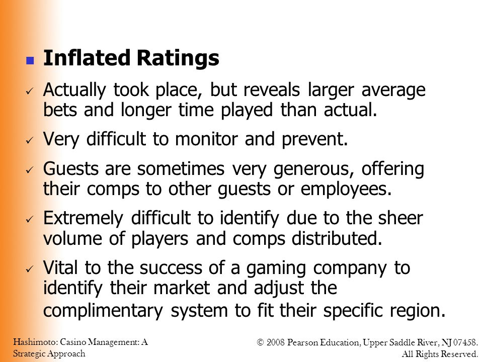 Inflated Ratings Actually took place, but reveals larger average bets and longer time played than actual.