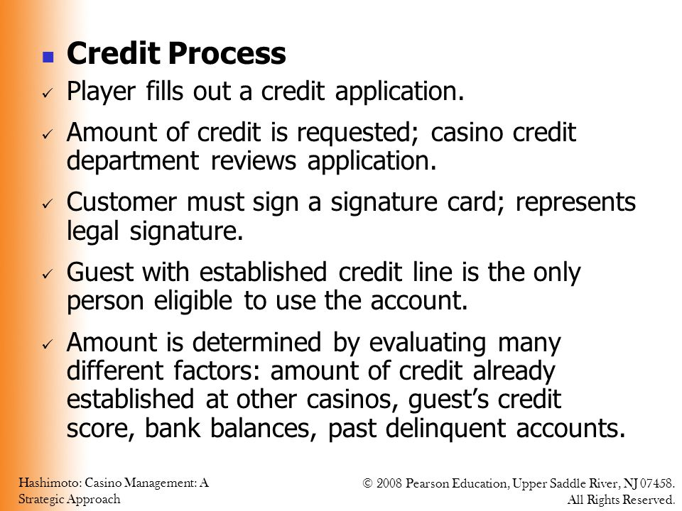 Credit Process Player fills out a credit application.