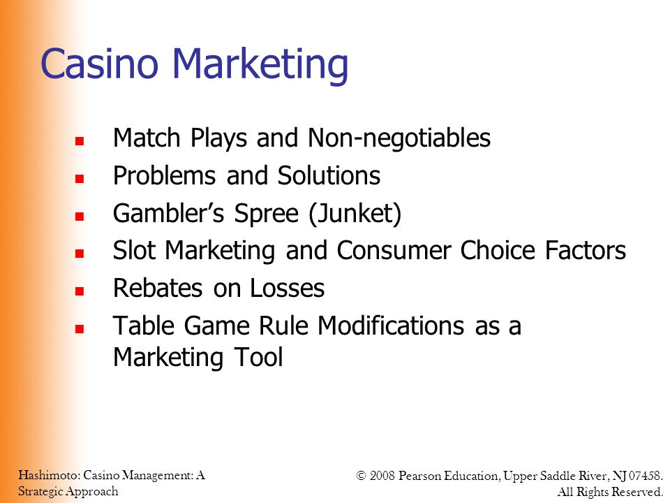 Casino Marketing Match Plays and Non-negotiables