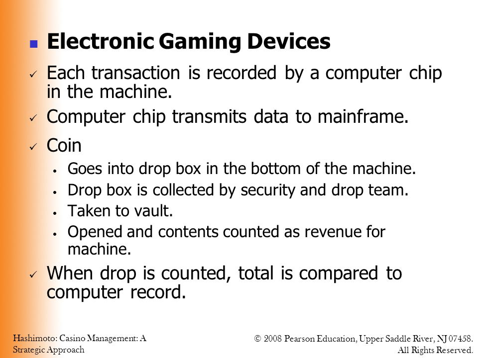 Electronic Gaming Devices