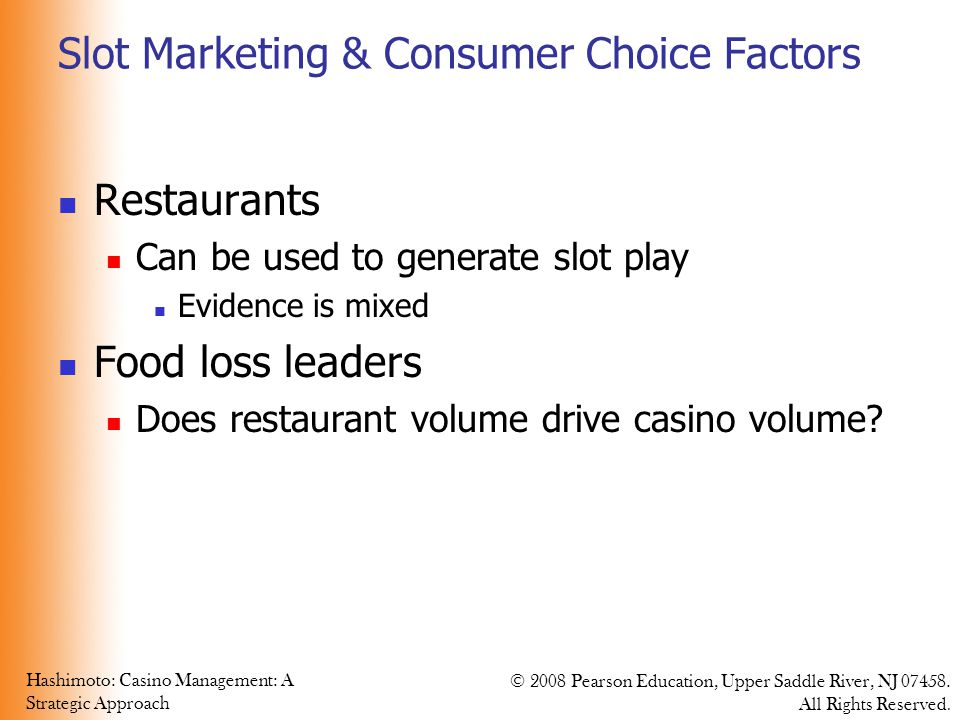 Slot Marketing & Consumer Choice Factors