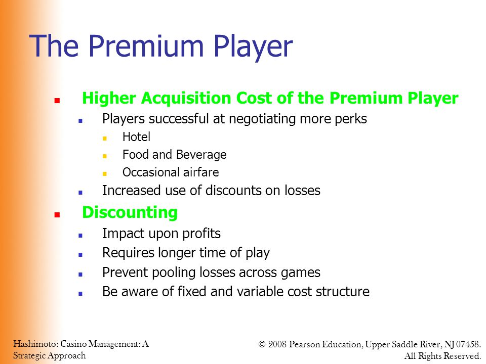 The Premium Player Higher Acquisition Cost of the Premium Player