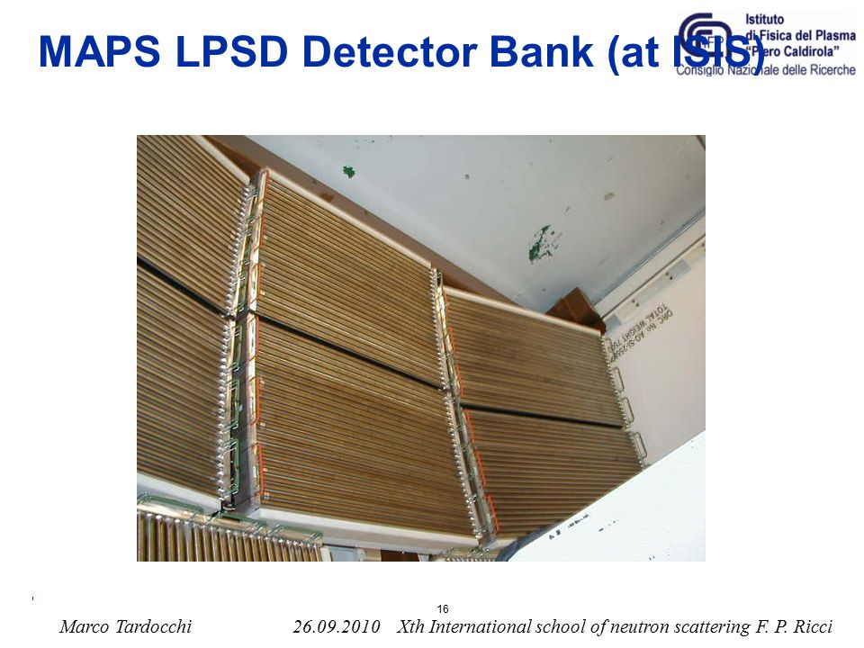 MAPS LPSD Detector Bank (at ISIS)