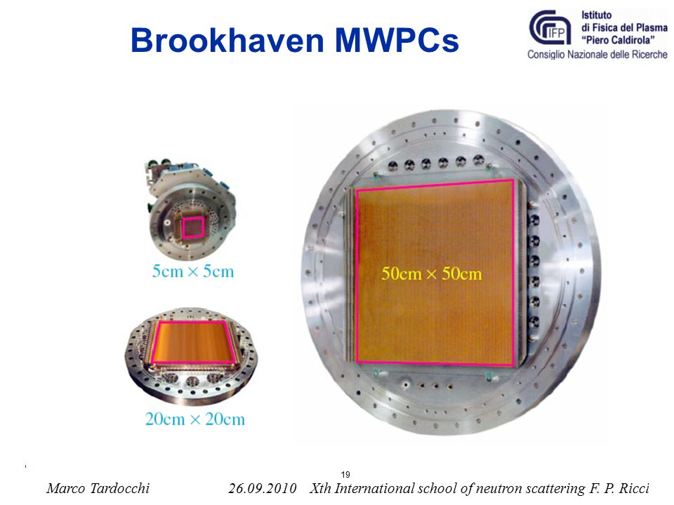 Brookhaven MWPCs 19