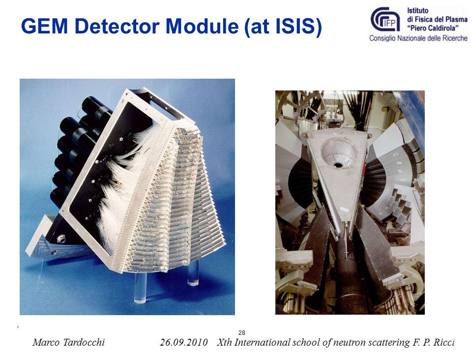 GEM Detector Module (at ISIS)