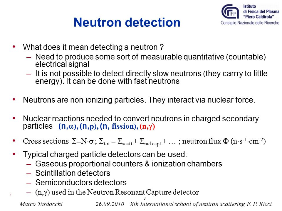 Neutron detection What does it mean detecting a neutron