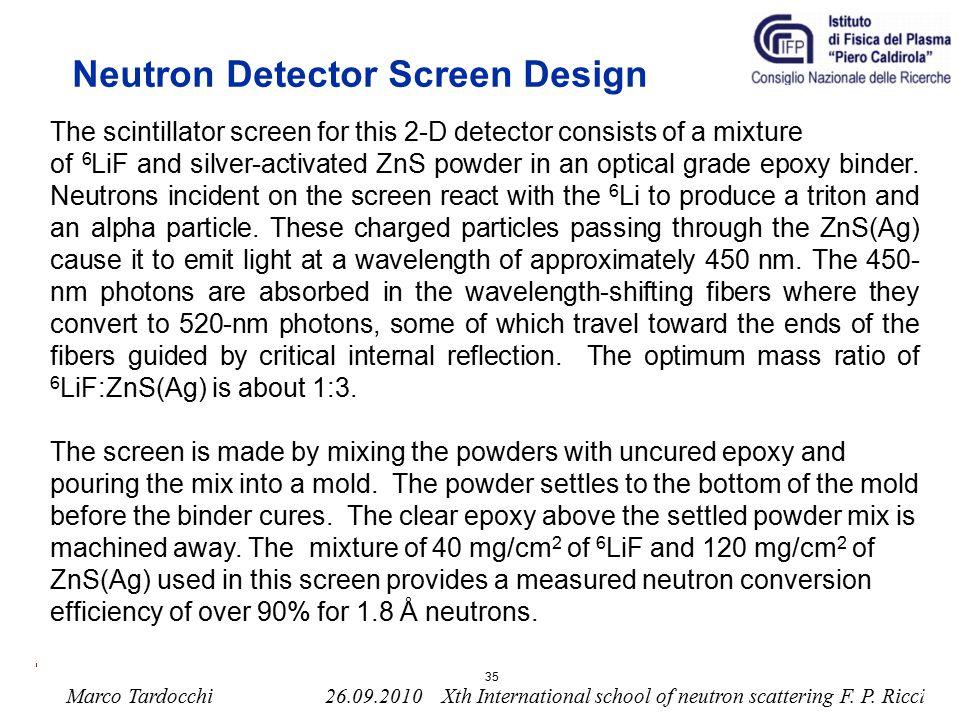 Neutron Detector Screen Design