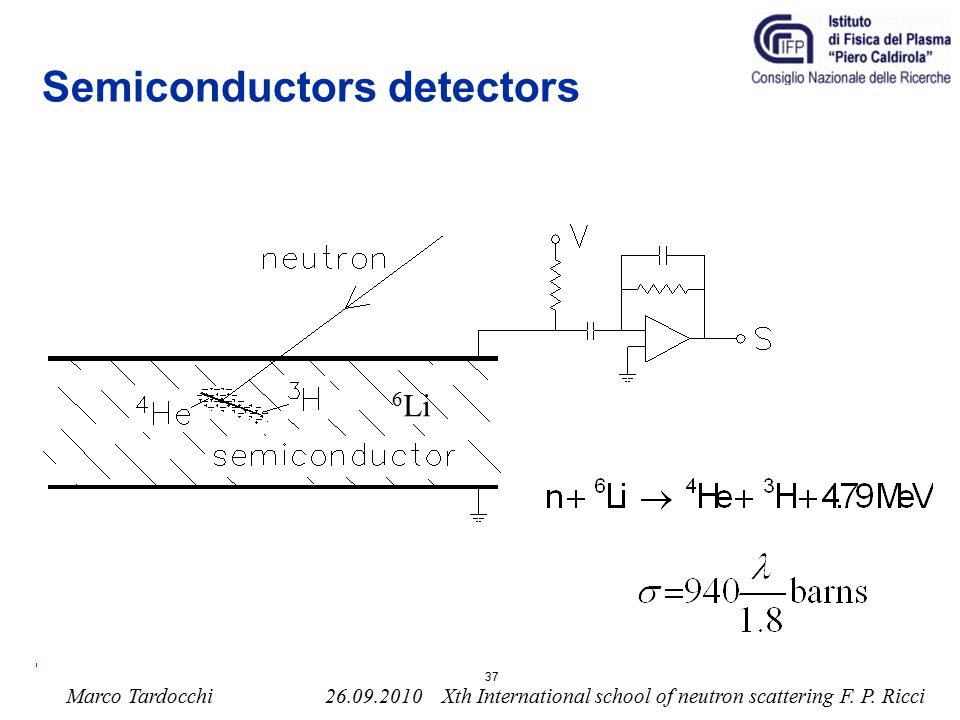 Semiconductors detectors