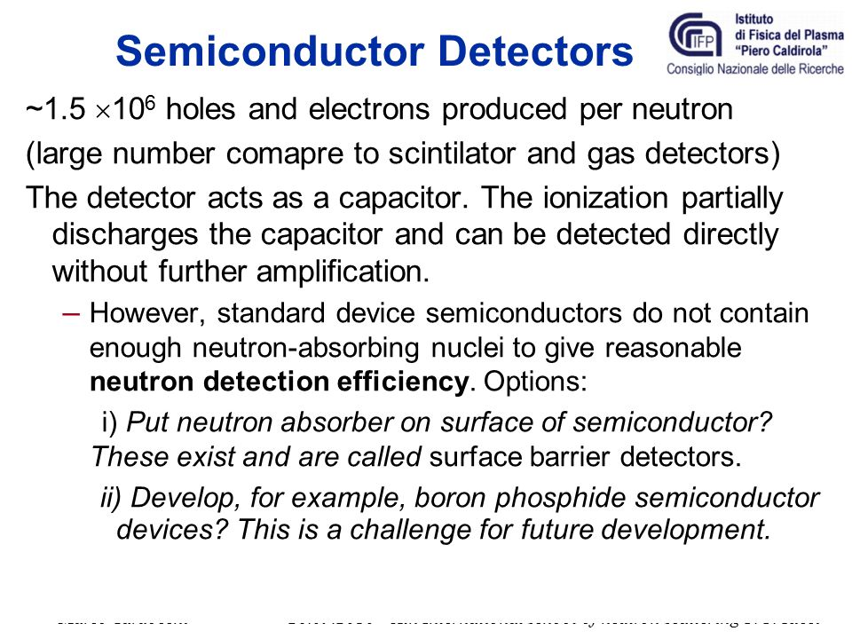 Semiconductor Detectors