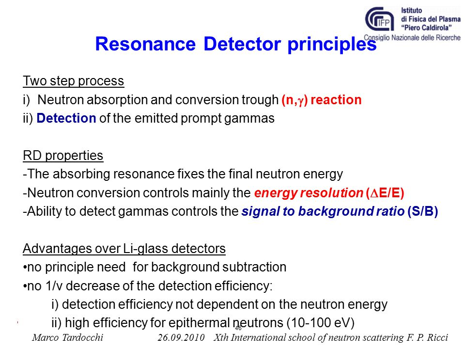 Resonance Detector principles